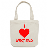 I Love West End - Carrie - Canvas Tote Bag