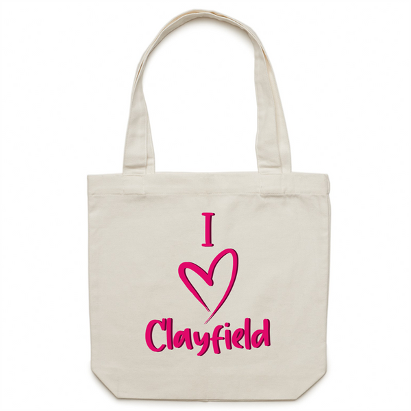I Love Clayfield - AS Colour - Carrie - Canvas Tote Bag