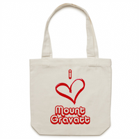 I Love Mount Gravatt - Carrie - Canvas Tote Bag
