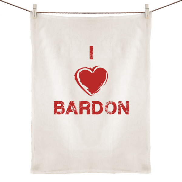 I Love Bardon - 100% Linen Tea Towel