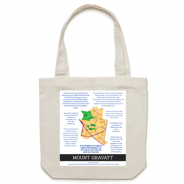 Mount Gravatt History - Carrie - Canvas Tote Bag