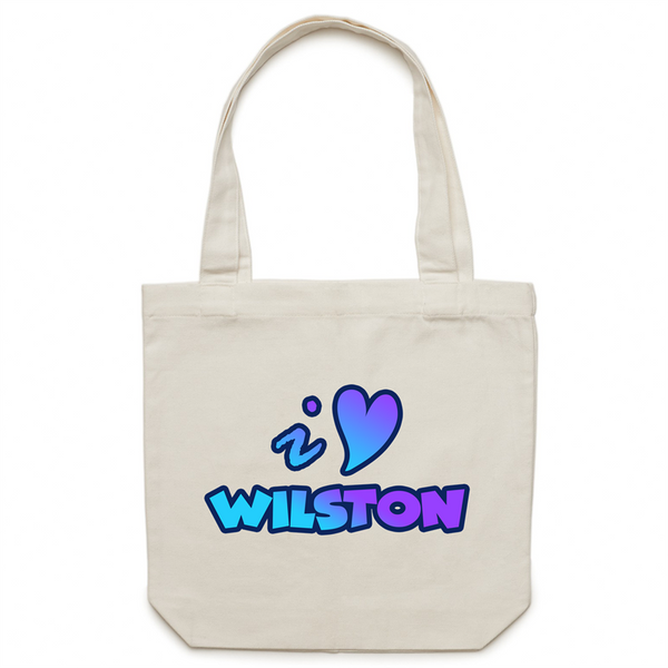 I Love Wilston - AS Colour - Carrie - Canvas Tote Bag
