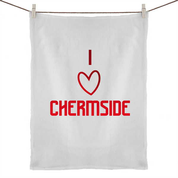 I Love Chermside  - 50% Linen 50% Cotton Tea Towel