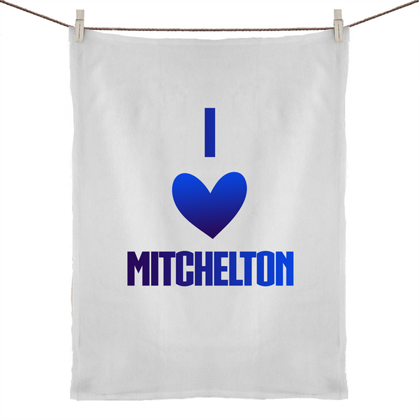 I Love Mitchelton - 50% Linen 50% Cotton Tea Towel