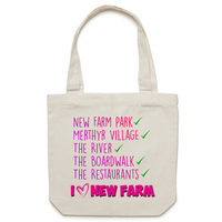 I Love New Farm - AS Colour - Carrie - Canvas Tote Bag