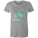 I Love Grange - AS Colour Wafer - Womens Crew T-Shirt