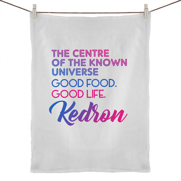 Kedron Centre Of The Known Universe - 50% Linen 50% Cotton Tea Towel