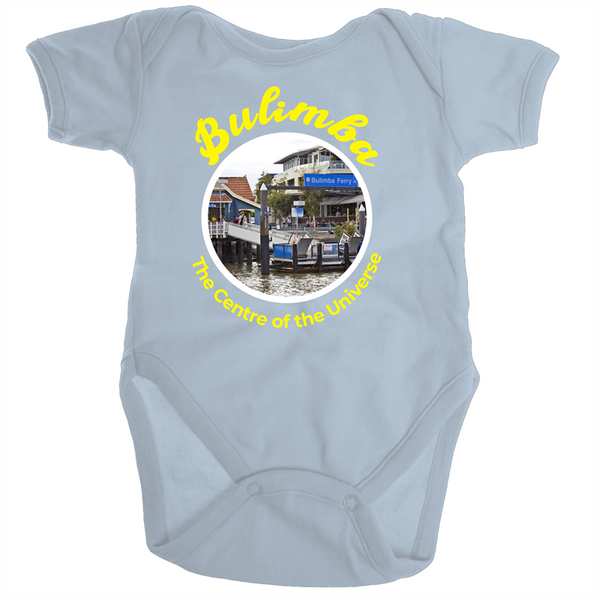 Bulimba The Centre Of The Universe - Ramo - Organic Baby Romper Onesie