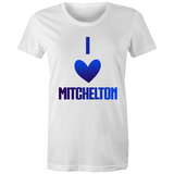I Love Mitchelton - AS Colour Wafer - Womens Crew T-Shirt