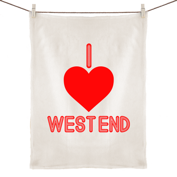 I Love West End - 100% Linen Tea Towel
