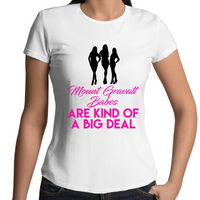 The Eyebrows Of A Mount Gravatt Chick Speak Louder Than Words - Womens T-shirt