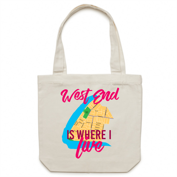 West End Is Where I Live - Carrie - Canvas Tote Bag
