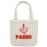 I Love Paddo - Carrie - Canvas Tote Bag