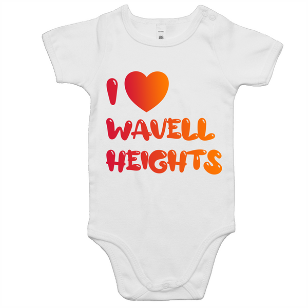 I Love Wavell Heights - AS Colour Mini Me - Baby Onesie Romper