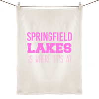 Springfield Lakes Is Where It's At - 100% Linen Tea Towel