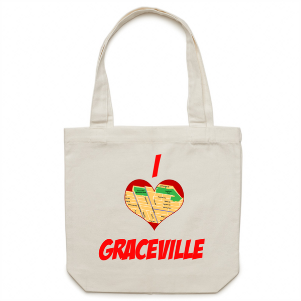 I Love Graceville - Carrie - Canvas Tote Bag
