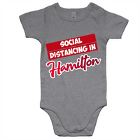 Social Distancing in Hamilton - AS Colour Mini Me - Baby Onesie Romper
