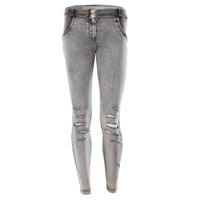 (WRUP1LA02E-J3Y) Wr.Up® Shaping Effect - Grey - Low Waist - Skinny