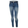 (WRUP1RA05E-J36W) WR.UP® In Dark Denim With White Whiskering And Crinkle Effect