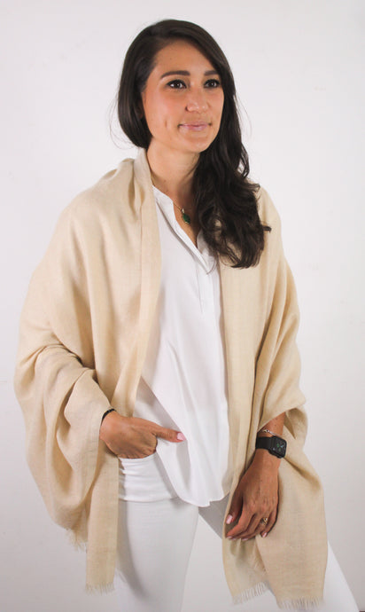 Natural Beige Shawl (Ariun)