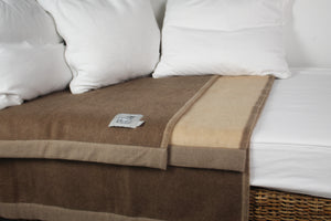Colorado Blanket - 2 Tone Reversible - Natural Brown/Natural Beige