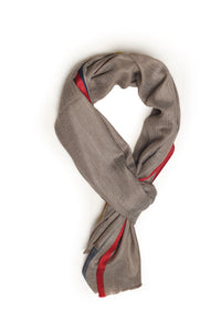 Taupe / Red-Blue Shawls
