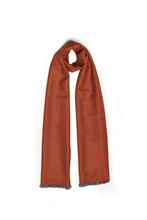 Load image into Gallery viewer, Burnt Orange/Soft Grey Scarf