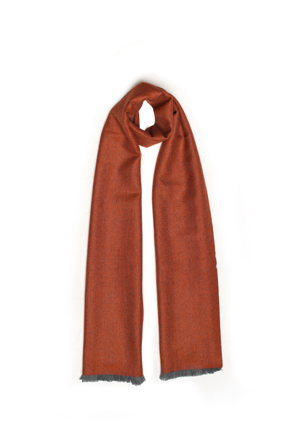 Burnt Orange/Soft Grey Scarf