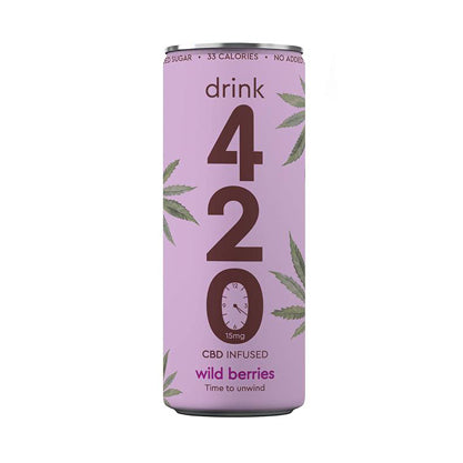 CBD infused sparkling Wild Berries, 250ml Slimline Can