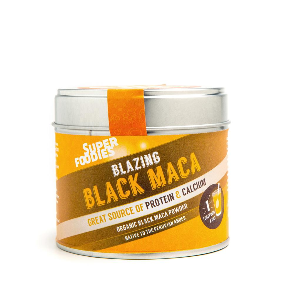 Raw Organic Black Maca Powder 75g