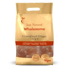 Just Natural Crystallised Ginger 125g