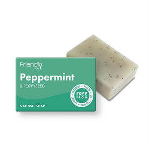 Friendly Soap - Natural Peppermint & Poppyseed Soap
