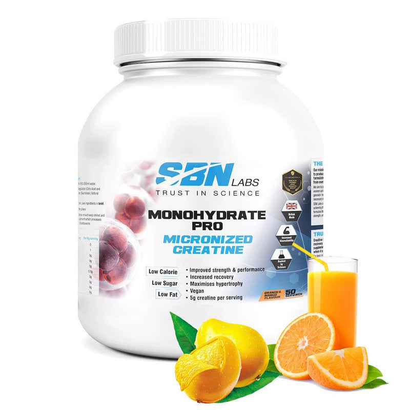 Monohydrate Pro Micronized Creatine - Orange & Mango Flavour