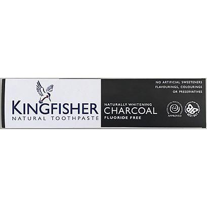 Kingfisher Natural Toothpaste - Naturally Whitening Charcoal (100ml)