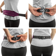 Ruby Red Adjustable Zipper Running Belt - Build & Fitness®