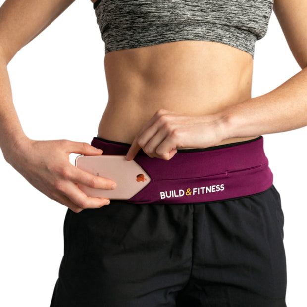 Ruby Red Adjustable Running Belt - Build and Fitness