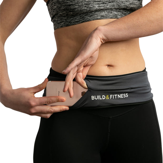 Graphite Adjustable Running Belt - Build & Fitness®