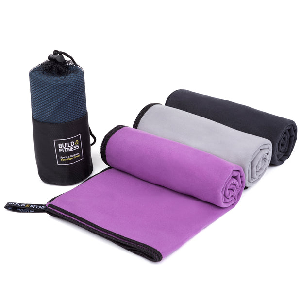 Black Microfiber Towel - Build & Fitness®