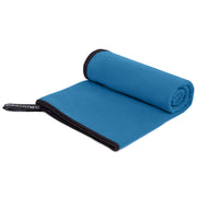 Blue Microfiber Gym, Beach & Travel Towel. Large