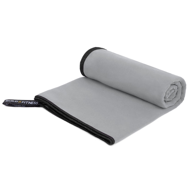 Gray Microfiber Towel - Build and Fitness
