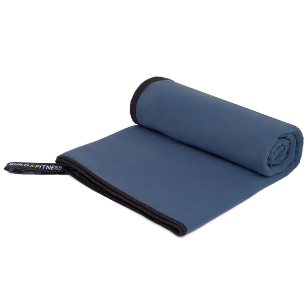 Navy Microfiber Towel - Build and Fitness
