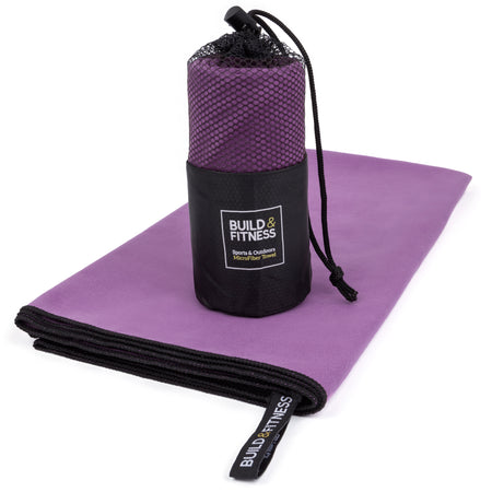 Purple Microfiber Gym, Beach & Travel Towel. Large