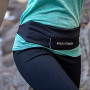 Black Adjustable Zipper Running Belt - Build and Fitness
