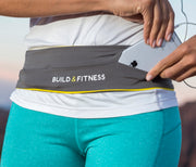 Gray Adjustable Running Belt