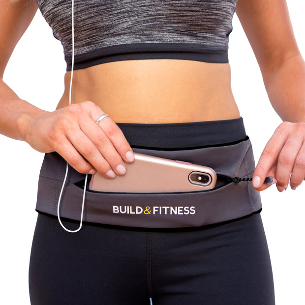 Graphite YKK Zipper Adjustable Running Belt