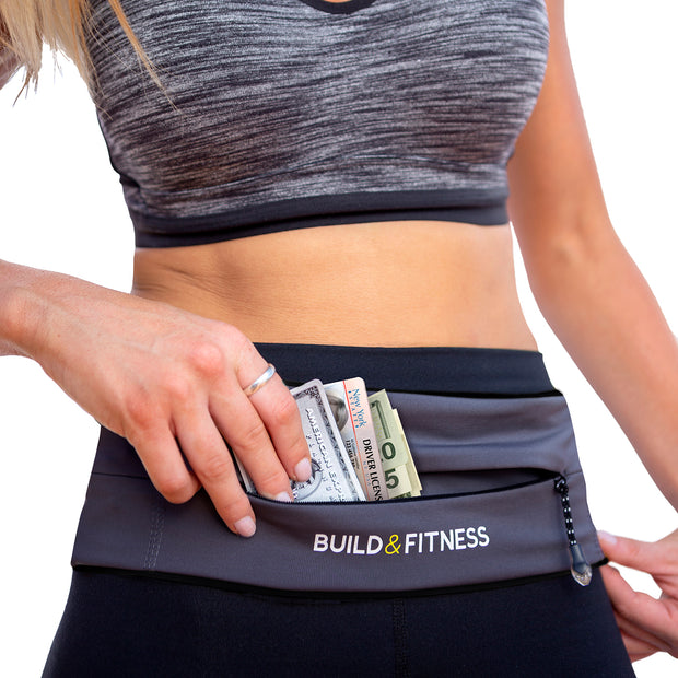 Graphite Zipper Adjustable Running Belt - Build & Fitness®
