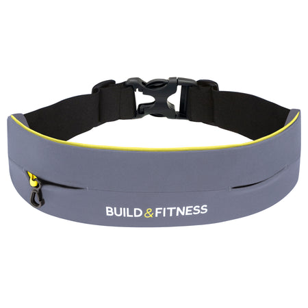 Gray Adjustable Running Belt - Build and Fitness