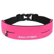 Hot Pink Adjustable Running Belt - Build and Fitness