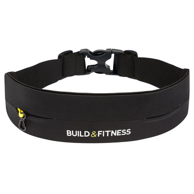 Black Adjustable Running Belt - Build and Fitness