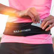 Black Adjustable Running Belt
